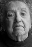 Het oude Portret van de Vrouw Stock Foto
