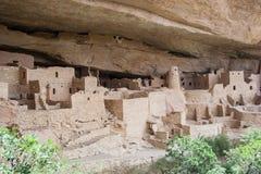 Het oude puebloan dorp van Cliff Palace van huizen en woningen in Mesa Verde National Park New Mexico de V.S. Stock Fotografie