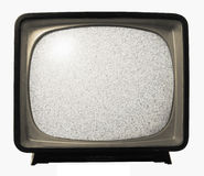 Het oude Retro lawaai van TV Royalty-vrije Stock Foto