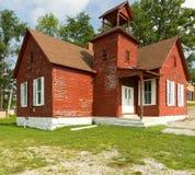 Het oude Rode Huis van de School Stock Fotografie