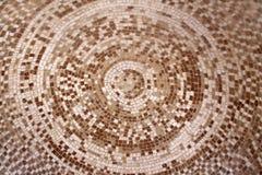 Het oude roman beige en bruine patroon van de mozaïek ceramische cirkel Royalty-vrije Stock Foto