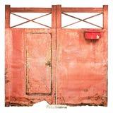Het oude rood van de ijzerdeur Royalty-vrije Stock Fotografie