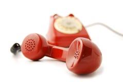 Het oude rood van de Telefoon royalty-vrije stock foto's