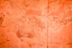 Het oude rood van staalmuren Stock Afbeeldingen