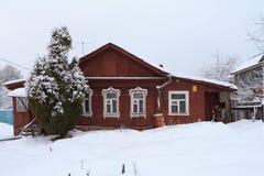 Het oude Russische huis in Zvenigorod, Rusland Royalty-vrije Stock Fotografie