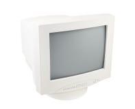 Het oude Scherm van de Monitor van PC Crt isoleerde wit Royalty-vrije Stock Afbeeldingen
