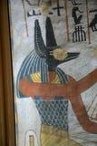 Het oude schilderen op muur bij Egyptische Graven royalty-vrije stock afbeeldingen