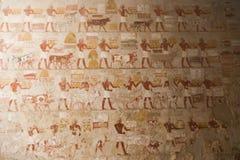 Het oude schilderen op muur bij Egyptische Graven royalty-vrije stock fotografie