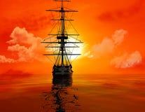 Het oude schip Stock Afbeelding