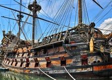 Het oude Schip van de Piraat Royalty-vrije Stock Fotografie