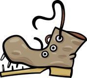 Het oude schoen of laarsart. van de beeldverhaalklem stock illustratie