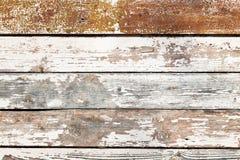 Het oude sjofele houten planking stock foto