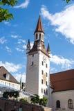 Het Oude Stadhuis dat op het Centrale vierkant van M?nchen, Duitsland wordt gevestigd stock foto's