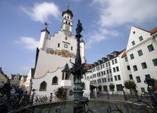 Het Oude Stadhuis van Kempten wijd Royalty-vrije Stock Fotografie