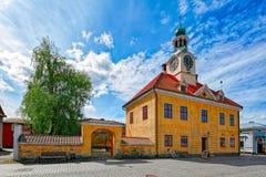 Het oude stadhuis van Rauma stock fotografie