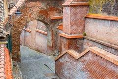 Het oude Stadsvierkant in het historische centrum van Sibiu werd gebouwd in de 14de eeuw, Roemenië stock afbeeldingen