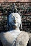 Het oude standbeeld van beeldBoedha Stock Foto