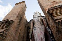 Het oude standbeeld van beeldBoedha in Sukhothai Stock Afbeelding