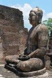 Het oude standbeeld van Boedha Royalty-vrije Stock Afbeeldingen
