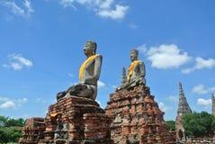 Het oude Standbeeld van Boedha Stock Afbeelding