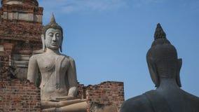 Het oude standbeeld van Boedha Royalty-vrije Stock Foto