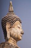 Het oude standbeeld van Boedha bij het Historische Park van Sukhothai, Thailand Royalty-vrije Stock Fotografie