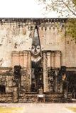 Het oude standbeeld van Boedha Het historische park van Sukhothai, Thailand Royalty-vrije Stock Afbeelding