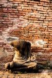 Het oude standbeeld van Boedha in Wat Mahathat-tempel in Ayutthaya, Thailand Royalty-vrije Stock Afbeeldingen