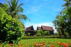 Het oude stijl Thaise huis. Stock Foto's