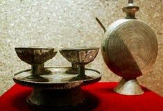 Het oude tafelzilver van de Minderheid Royalty-vrije Stock Fotografie