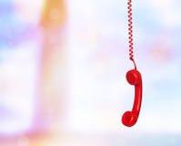 Het oude telefoon hangen stock fotografie