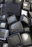 Het oude televisiehuisvuil, vuilnistv, elektronische troep kan zijn recyc royalty-vrije stock afbeeldingen