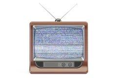 Het oude Televisiescherm met statisch lawaai, slechte signaalontvangst royalty-vrije illustratie