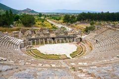 Het oude theater van Ephesus royalty-vrije stock afbeeldingen