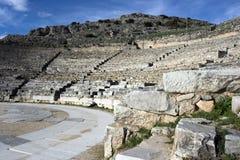 Het oude theater van Philippi Stock Foto