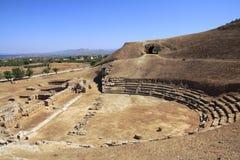 Het Oude Theater van Sicyon, Griekenland royalty-vrije stock foto's