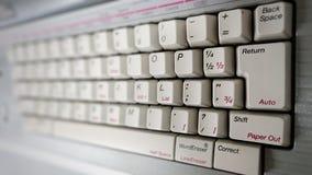 Het oude toetsenbord van de stijl witte computer royalty-vrije stock afbeeldingen