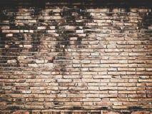 Het oude uitstekende Ontwerp van de bakstenen muurtextuur Lege rode baksteenachtergrond voor Presentaties en Webontwerp Heel wat  Stock Afbeeldingen