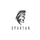 Het oude Uitstekende vectorontwerp van de Antiquiteiten Spartaanse strijder royalty-vrije illustratie