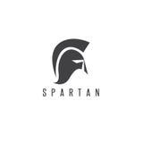 Het oude Uitstekende vectorontwerp van de Antiquiteiten Spartaanse strijder stock illustratie