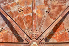 Het oude industriële detail van het machineswiel royalty-vrije stock foto's