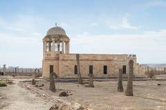 Het oude vernietigde gebouw op de Doopplaats van Jesus Christ - Qasr Gr Yahud in Israël Stock Fotografie