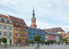 Het oude vierkant van de Markt (verander Marktplatz), Offenburg, Duitsland Royalty-vrije Stock Foto