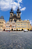 Het oude Vierkant van de Stad, Praag Stock Foto's