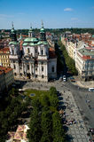 Het oude Vierkant van de Stad, Praag stock foto