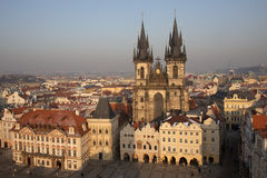 Het oude Vierkant van de Stad, Praag Stock Fotografie