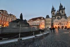 Het oude Vierkant van de Stad, Praag Stock Afbeeldingen