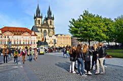 Het oude Vierkant van de Stad, Praag royalty-vrije stock foto