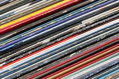 Het oude vinyl registreert inzameling Stock Foto's