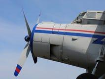 Het oude vliegtuig royalty-vrije stock afbeelding